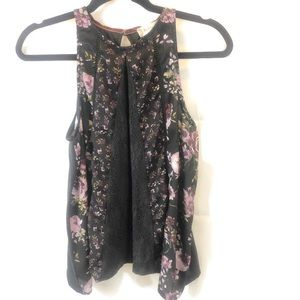 Altard floral blouse with with embroidery trim